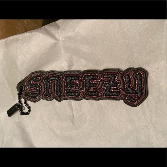 Coach X Disney Sneezy Bag Charm Keychain Wine NWT